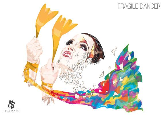 Fragile Dancer Digital Print by grgraphic on Etsy