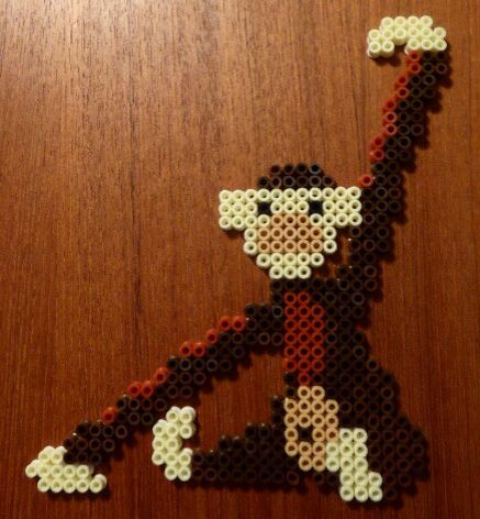 Kay Bojesen Wooden Monkey in Hama Beads