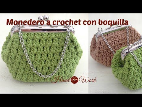 Tutorial como hacer monedero crochet con boquilla - YouTube