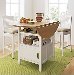 Belmont white high dining table. Ideal para cocinas o salones pequeños.