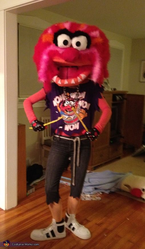 Five pages of amazing homemade adult Halloween costumes - check out this Animal costume!