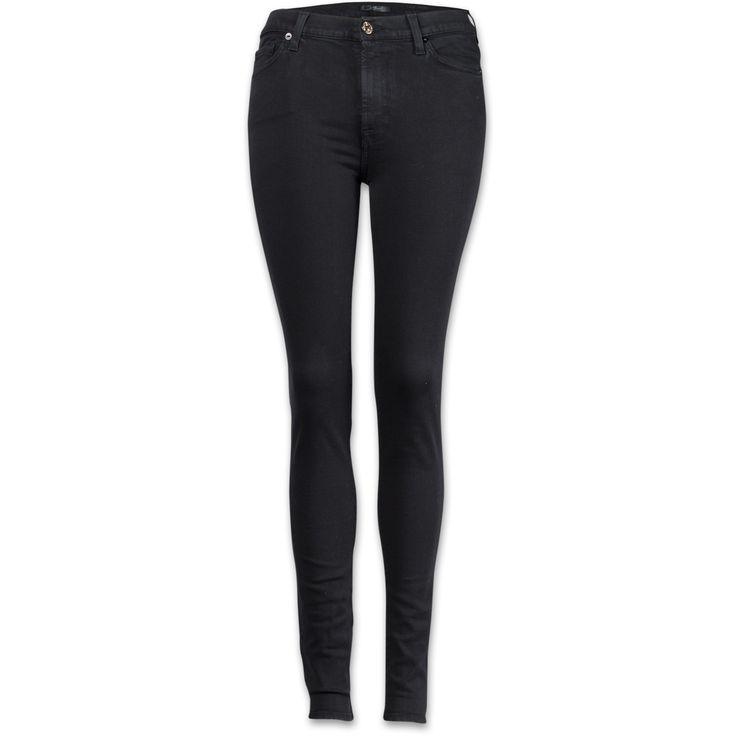 7 for all mankind High Waist Skinny Damen Jeans schwarz/Bild1