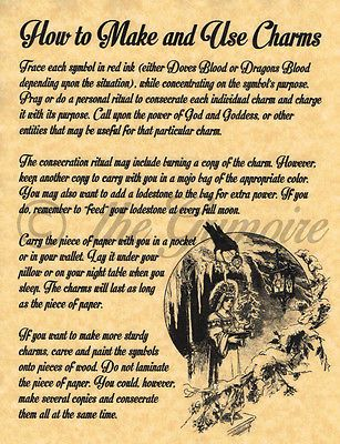 How to Make and Use Charm, BOS Page, Real Witchcraft Spell for Book of Shadows