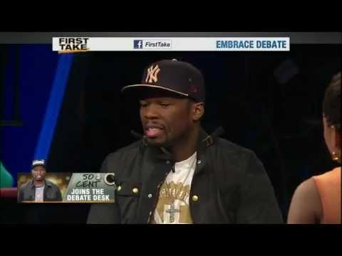 Rapper 50 Cent joins the First Take debate desk to discuss his relationship with Floyd Mayweather Jr. and his thoughts on why Mayweather and Manny Pacquiao haven't fought.
