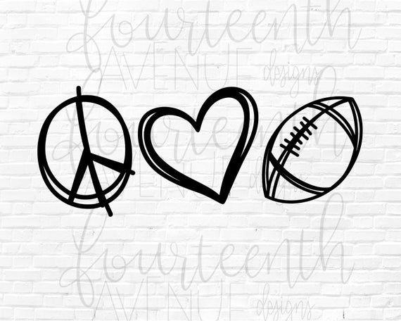 Download Football SVG / Peace Love Football SVG / Football Mom ...