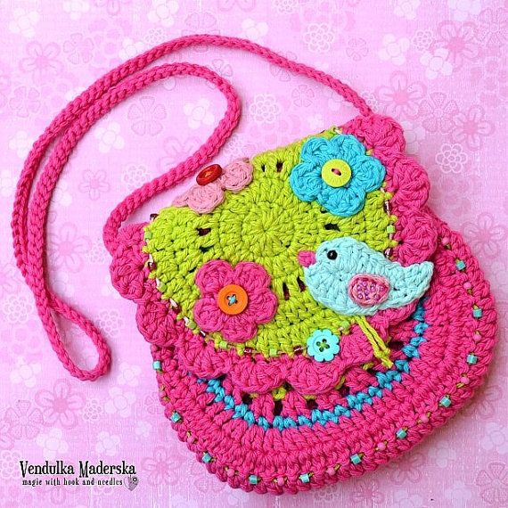 The Spring is almost here - welcome it with Spring birdie purse ! Your little girl will look so cute wearing it :-)  *This is a crochet pattern and not