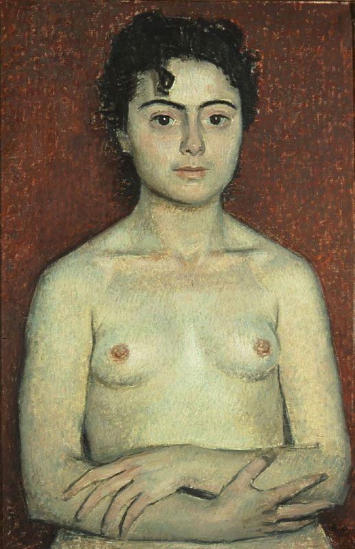 Yiannis Moralis - Female Nude, 1950