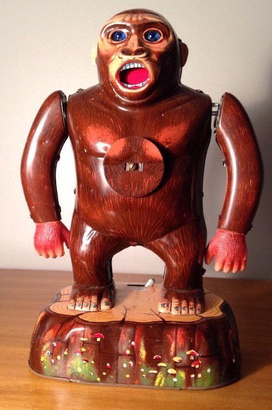 #Masudaya #ModernToys Japan #Roaring #Gorilla #Shooting #Gallery