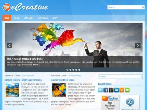 eCreative WordPress theme