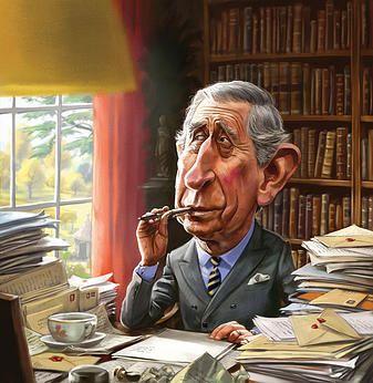 Howard McWilliam illustration | CARICATURE. Prince Phillip