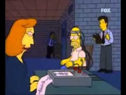 Homer #Simpson frente al detector de mentiras