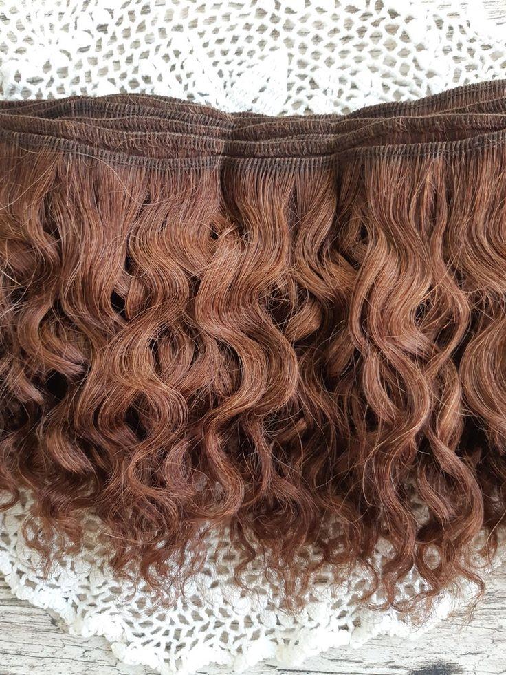 Weft doll hair mohair goat hair 1 meter for waldorf doll wig custom Blythe wig natural Wool Doll Hair Brown hair