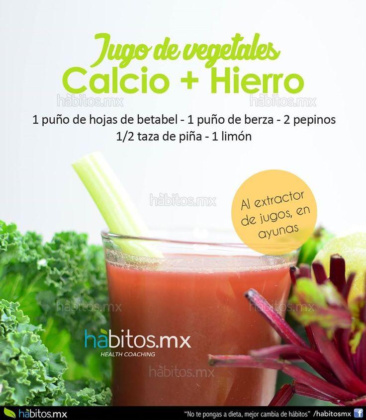 Hábitos Health Coaching   JUGO DE VEGETALES CALCIO + HIERRO