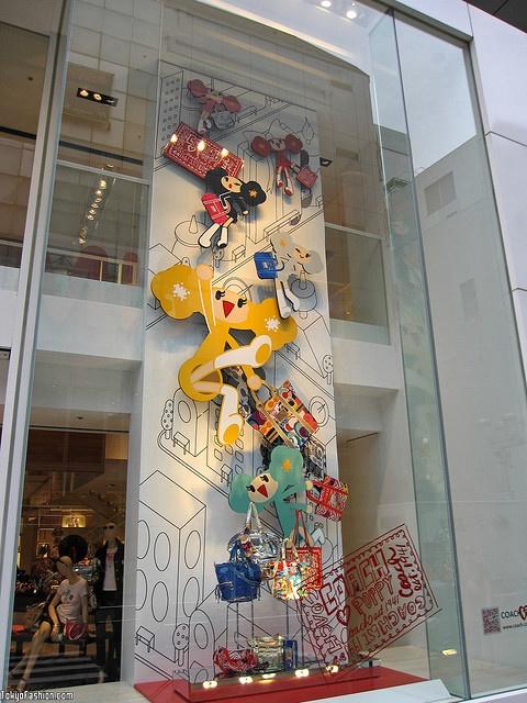 Window Display | Coach Shibuya Presents Poppy window display. #retail #merchandising #COACH