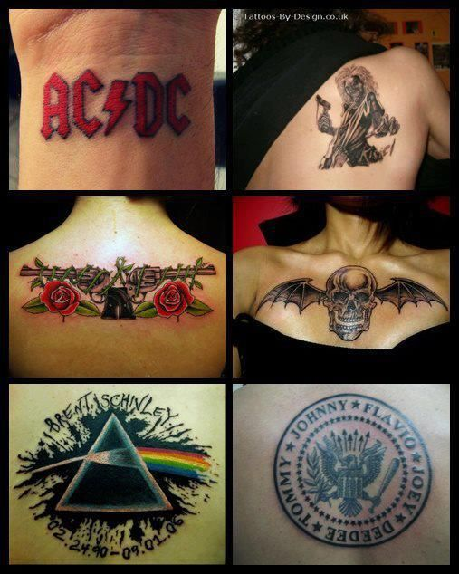 112 best images about band tattoos on pinterest brand for Pink gun tattoo
