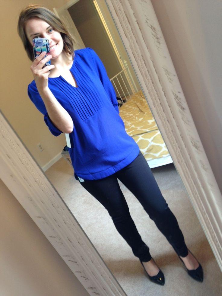 Royal Blue Blouse Outfit 53