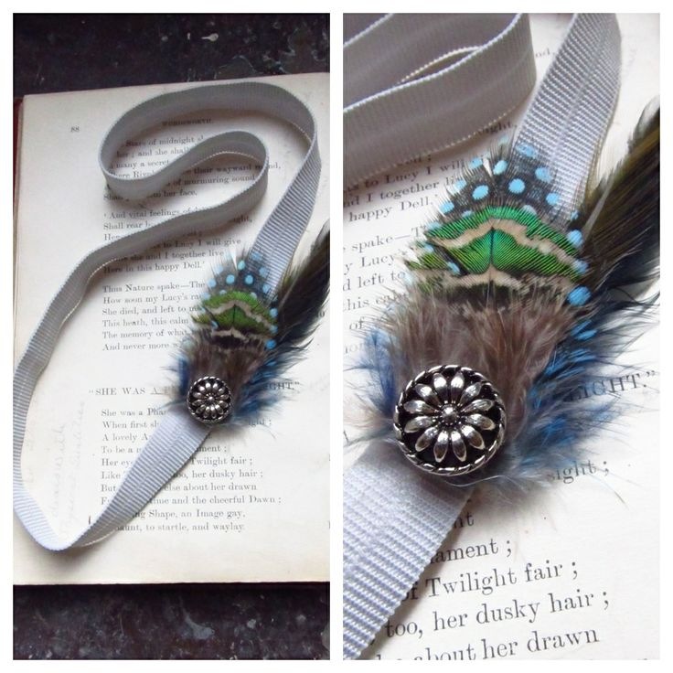 For the Gatsby fan - Feather Headband via Coal Miner's Daughter