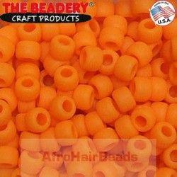 The Beadery Haarkralen 9x6mm Mat Oranje