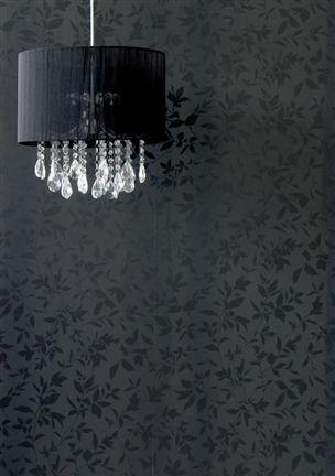 black: Black Walls, Black Interiors, Wallpaper, Office Design, Interior Ideas