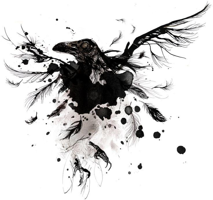 Prémonition et augure à venir. - Page 6 34fec3d387c96197f485cbcf2f4e03b6--raven-art-crows-ravens