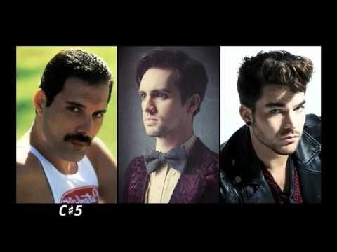 Vocal Range Battle: Freddie Mercury, Brendon Urie and Adam Lambert