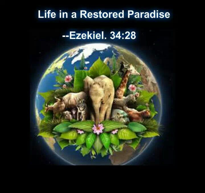 EZEKIEL 35: 28 ....... they will dwell in security, with no one to make them afraid.
