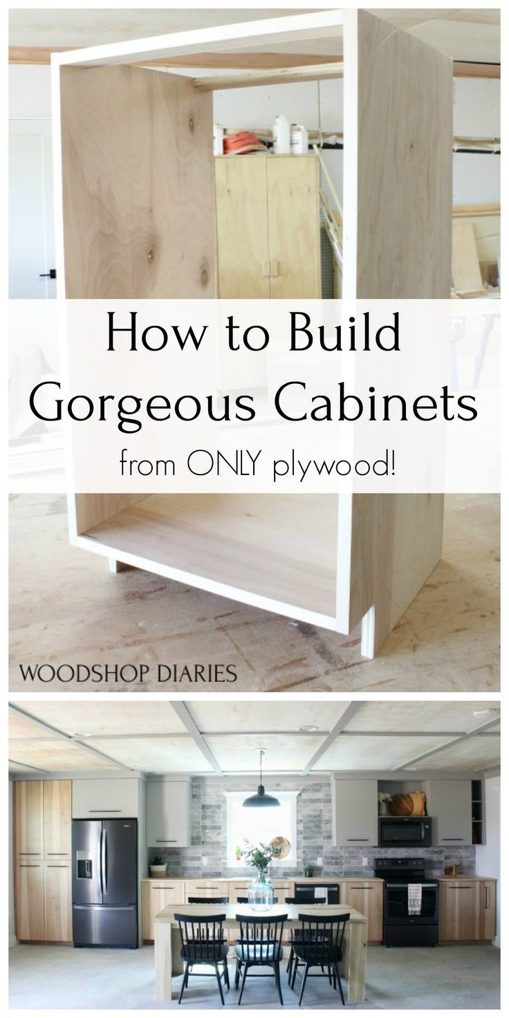 Diy Kitchen Cabinets Made From Only Plywood In 2020 Building Kitchen Cabinets Kitchen Design Diy Built In Cabinets