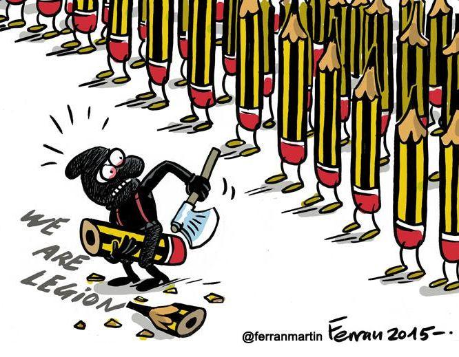 http://www.elle.fr/Societe/News/Charlie-Hebdo-les-illustrateurs-du-monde-entier-rendent-hommage-au-journal/Ferran-Martin-illustrateur-espagnol