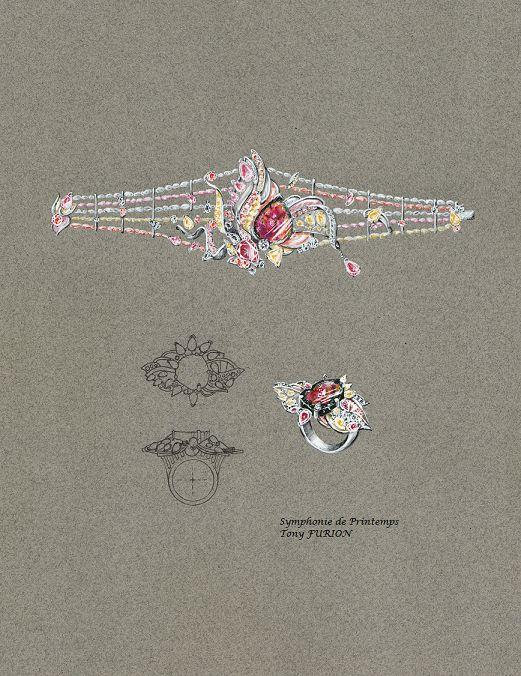 Tony FURION : Bracelet et Bague '' Symphonie de Printemps ''