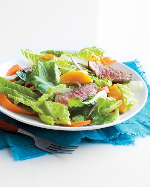 Steak Salad with Orange-Honey Dressing