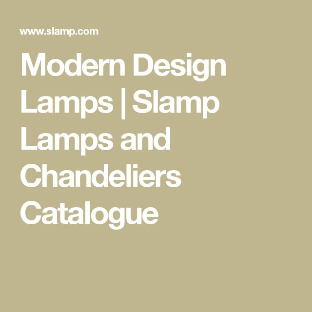 Modern Design Lamps | Slamp Lamps and Chandeliers Catalogue