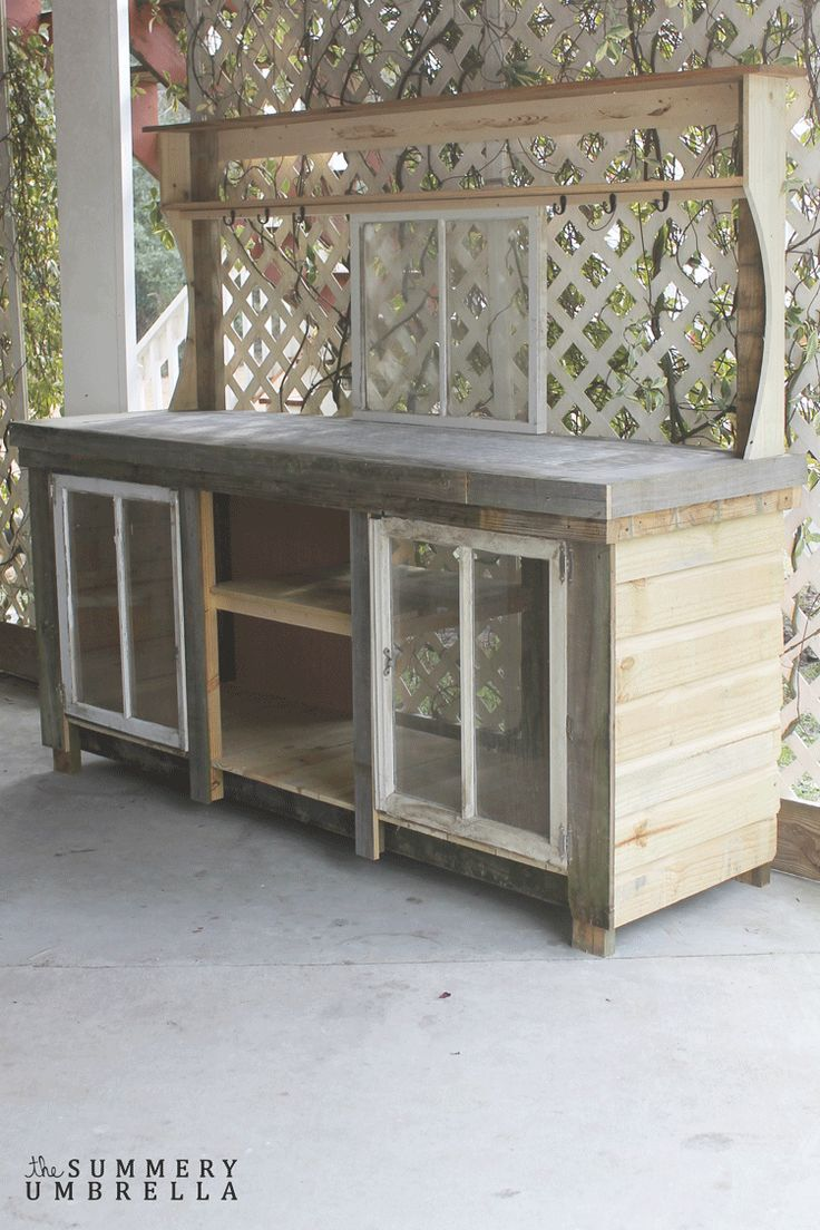 How To Build A Potting Bench With Reclaimed Wood Outdoor