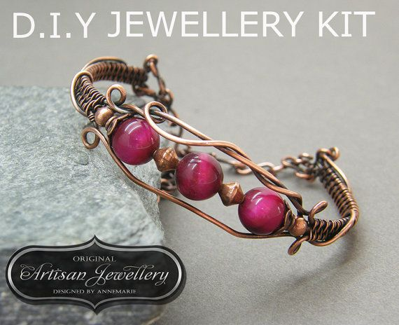 DIY Jewellery Kit for Copper Wire Wrapped by DesignedByAnnemarie