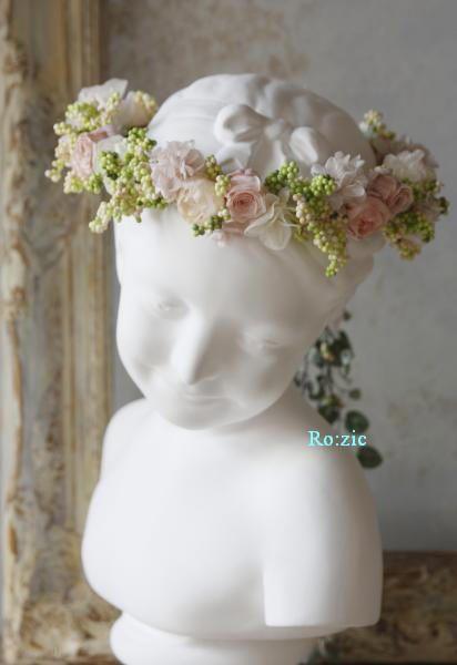 2013.2.1 花冠と小さなボールブーケとリストレット