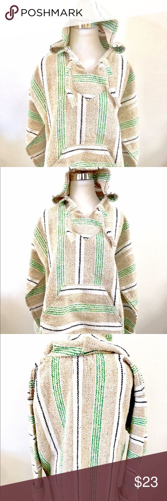 "Earth Ragz Baja poncho XL Beautiful comfy perfect for summer. Size XL for that cool over size look. In really nice preloved condition. 27"" in length and 24"" bust earth ragz Sweaters Shrugs & Ponchos"