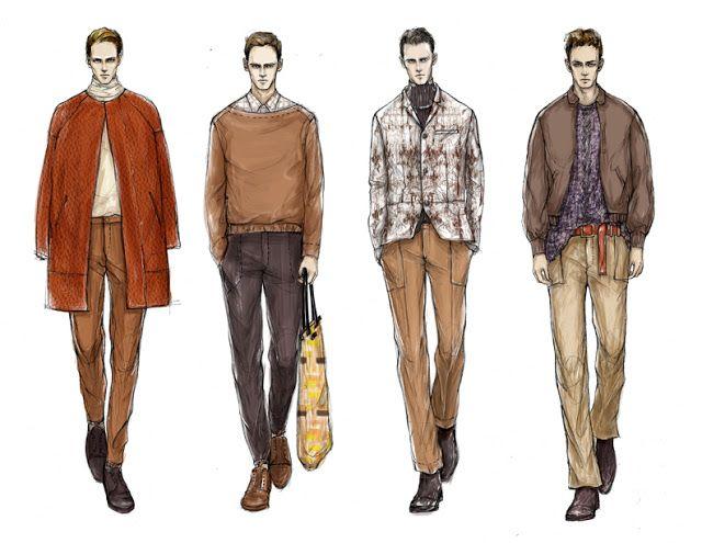 Fashion Illustrator Mengjie Di: Commission from StyleSight Trend ForeCasting Mensw...
