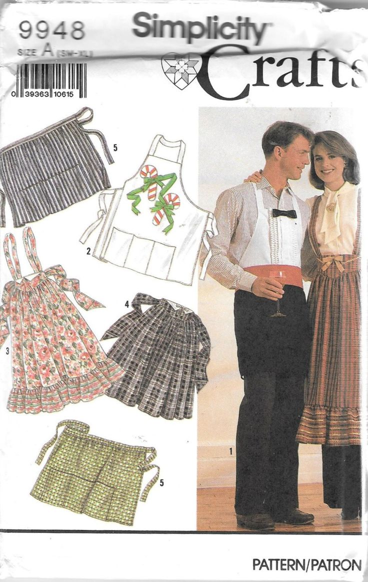 Simplicity 9948 Novelty Aprons Christmas Long Short Sewing Pattern Unisex Uncut by SinclairsStuff on Etsy
