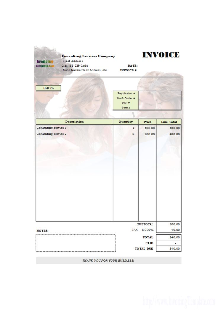 Más de 25 ideas increíbles sobre Invoice sample en Pinterest - consulting invoice sample