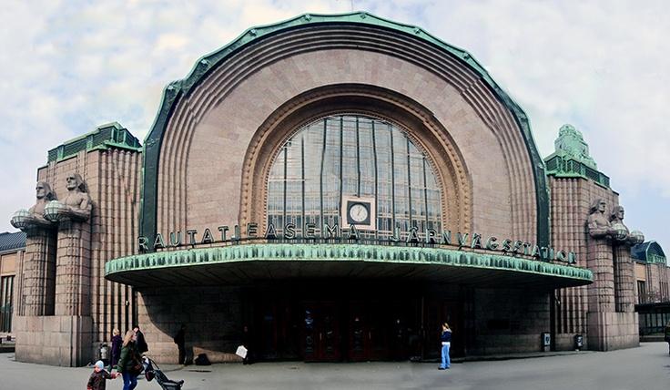Helsinki Central Railway Station, Helsinki, Finland; designed by Eliel Saarinen