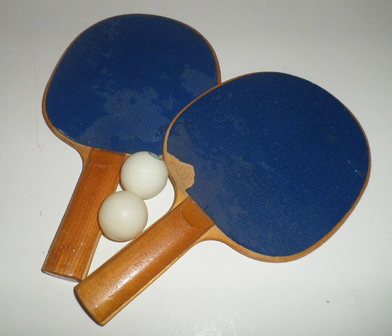 Vintage Ping Pong Paddles Table Tennis Paddles by ...