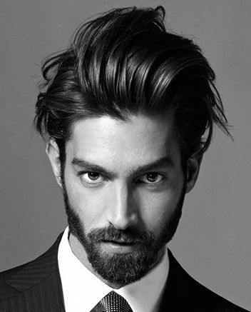 Sexy �%u010Des pro modern�ho gentlemana, or sexy hairstyle for the modern gentleman. Maximiliano Patane.