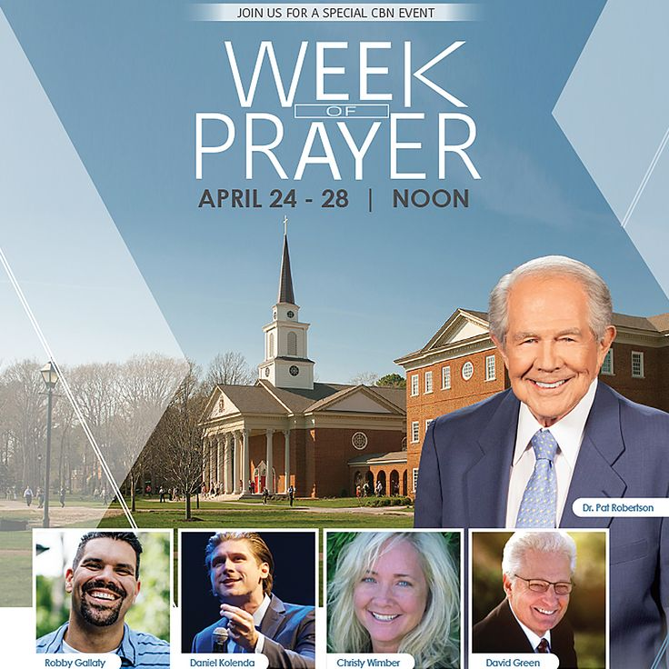 This week during our annual #WeekOfPrayerCBN we invite you to join us and an array of speakers as they lead us into a time of prayerful reflection. We're excited to pray on your behalf. Send in your prayer requests so we can lift you up! Click this link for more prayer resources: http://event.cbn.com/weekofprayer/2017-spring/landing.aspx