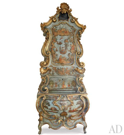 18th century Venetian Commode.  http://passport2design.com/antique-italian-painted-furniture/