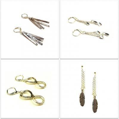 #15-001 Earrings pewter - Variable Price || #HandMade #FaitALaMain #HechoAMano || #Quebec #Canada #Toronto #Montreal #France || #BijouxBleu #Sebejo ||