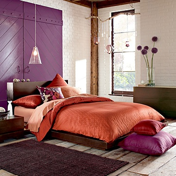 purple/orange for the guest bedroom is an option