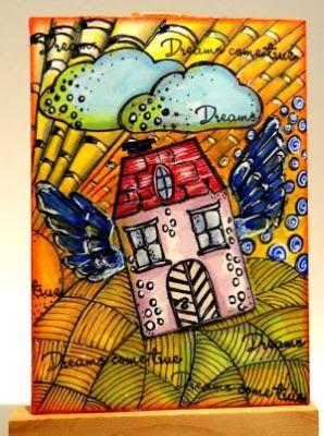 dreams, coloring doodles, ATC