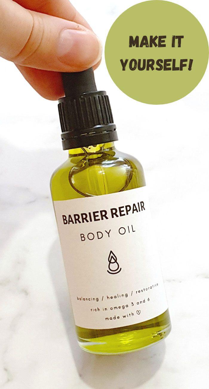 Body Oil Recipe For Barrier Repair Body Oil Recipe Body Oil Diy Body Oil