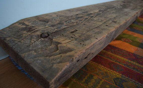 Reclaimed Fireplace Mantel Shelf 75 x 12 x 3 by UpcyclartDesigns