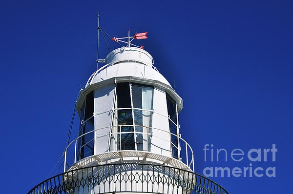 #LIGHTHOUSE #TURRET  - #Close up Quality Prints and Cards at:    http://kaye-menner.artistwebsites.com/featured/lighthouse-turret--close-up-kaye-menner.html  -