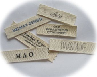 Custom Clothing Labels Knitting labels by mountainstreetarts